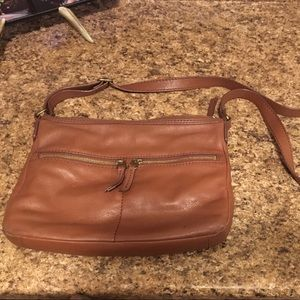 Fossil Tan Leather Crossbody Purse